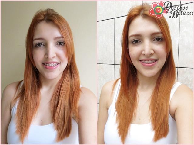 ruiva: cabelo ruivo yellow 9.4 e 9.3 luz interna