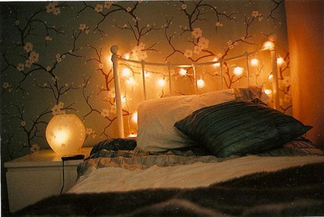 decoração: quarto com luzes 3