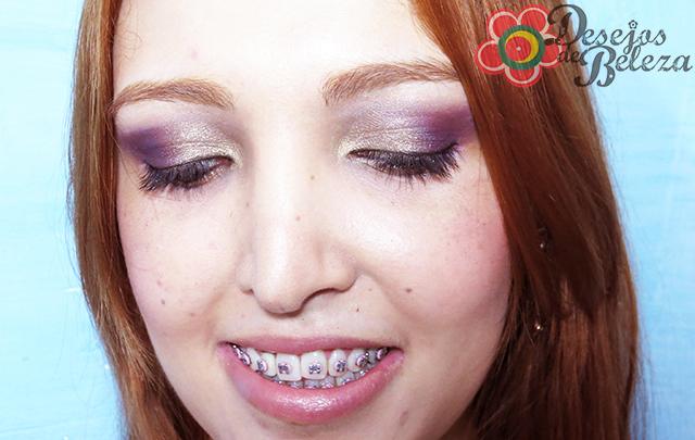 passo a passo - maquiagem:  roxo e dourado - imagem 2