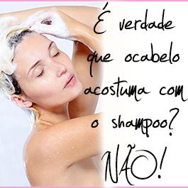 é verdade que o cabelo acostuma com o shampoo slides