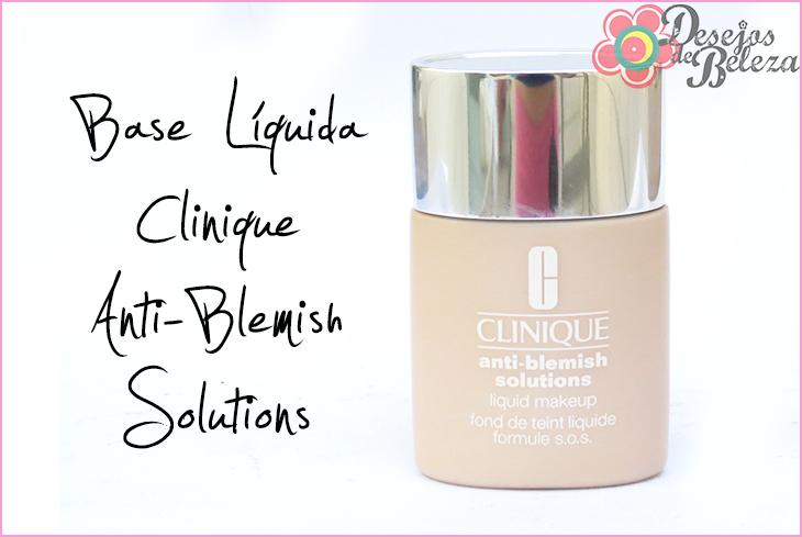 anti-blemish solutions base líquida clinique