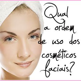 qual a ordem de uso dos cosméticos faciais slide