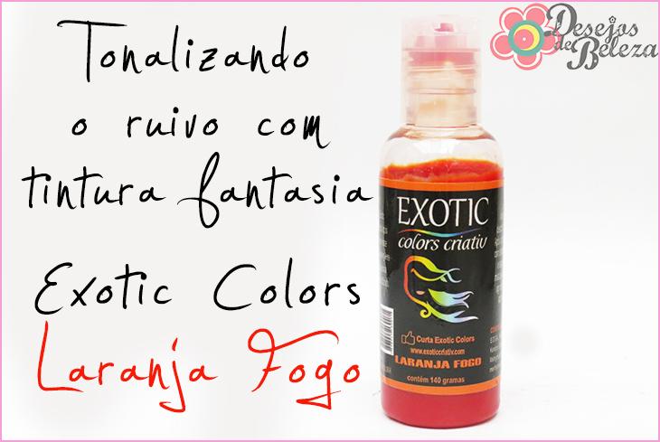 exotic colors laranja fogo - tonalizando o ruivo