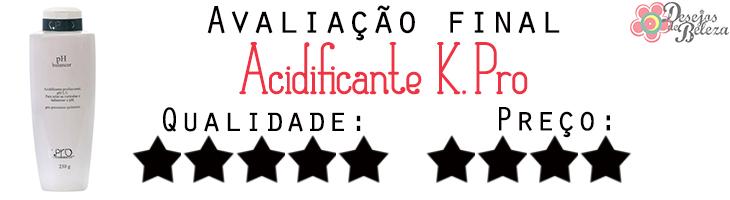 acidificante kpro avaliação final