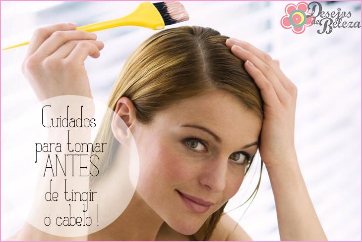 cuidados para tomar antes de tingir o cabelo