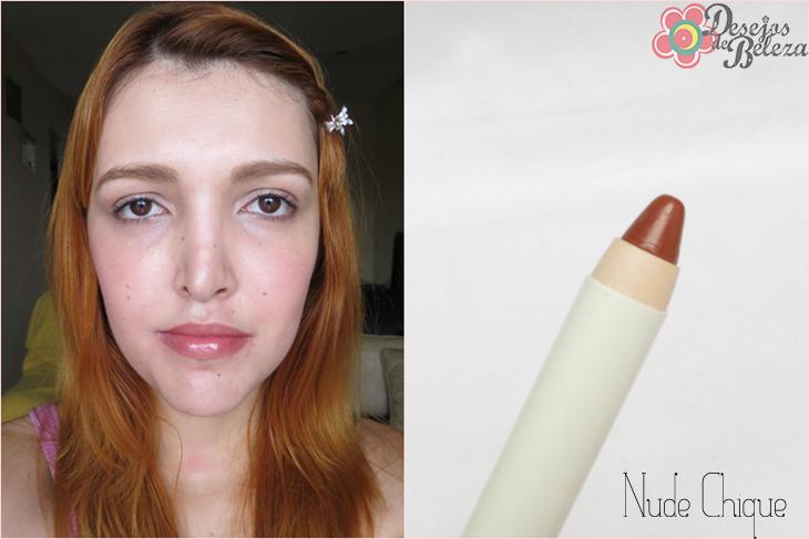 color trend avon - super lápis para lábios - nude chique