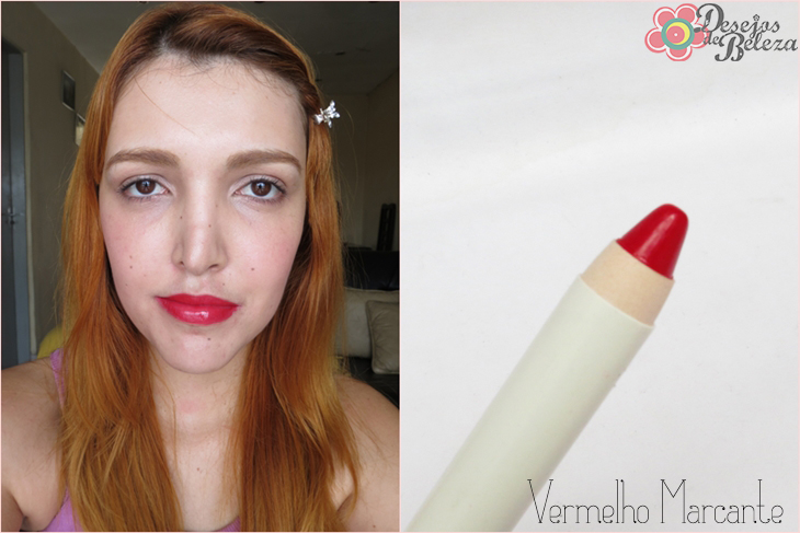 color trend avon - super lápis para lábios - vermelho marcante