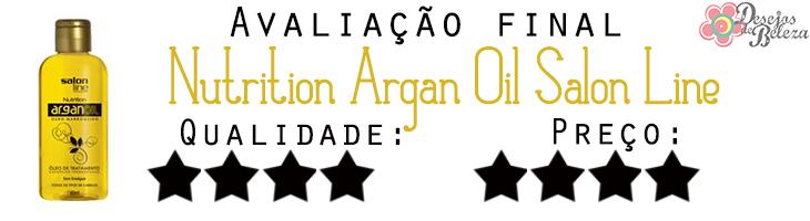 salon line argan oil avaliação final - desejos de beleza