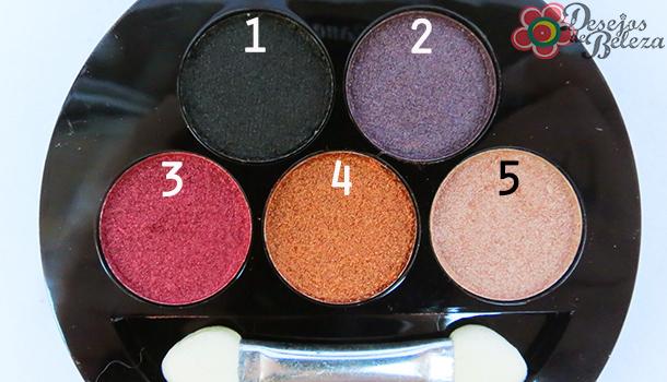 Paleta 5 sombras 3D Fenzza G1 - detalhes 2 - desejos de beleza