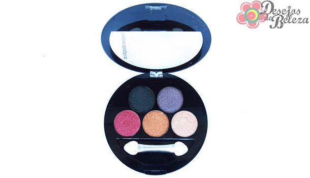 Paleta 5 sombras 3D Fenzza G1 - detalhes - desejos de beleza
