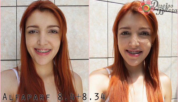 cabelo ruivo - alfaparf 84 e 834 - desejos de beleza