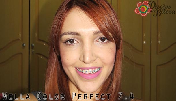 cabelo ruivo - color perfect 74 - desejos de beleza