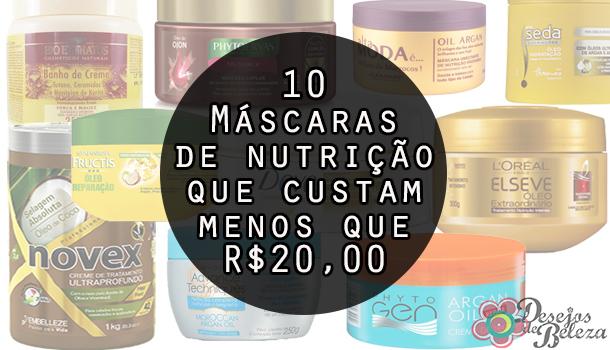 10 máscaras de nutrição abaixo de vinte reais capa