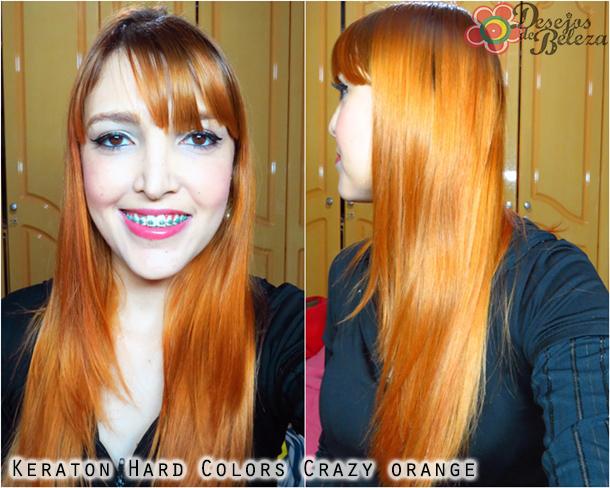 crazy orange keraton hard colors - cabelo - desejos de beleza