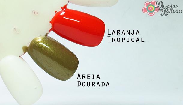 diva tropical - swatch esmaltes - desejos de beleza