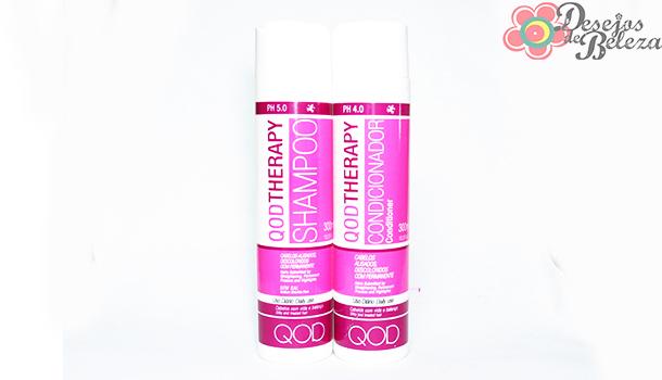 qod therapy shampoo e condicionador - detalhes - desejos de beleza