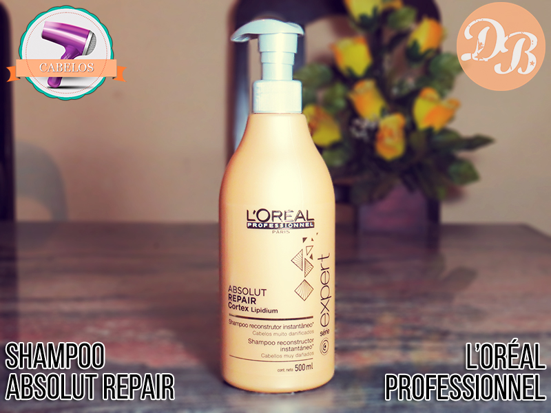 Testei: Shampoo Absolut Repair Cortex Lipidium L'Oréal Professionnel - Desejos de Beleza
